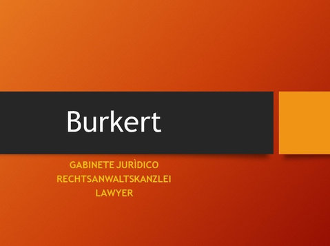 Abogado Markus Burkert. Asesoramiento legal en castellano - 法律/金融
