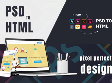 convert your psd to html , xd to html, sketch to html - Computer/Internet