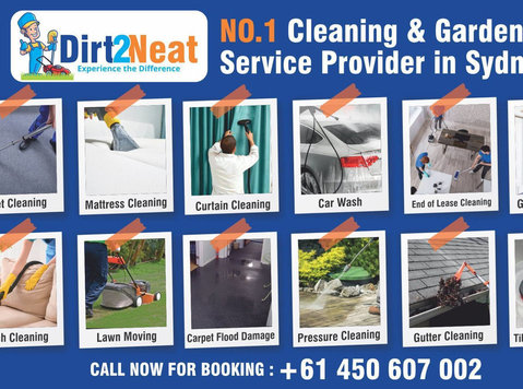 Dirt2neat - Gardening & Cleaning Service provider in Sydney - Renhold