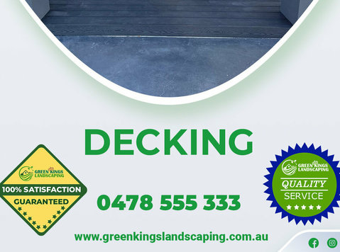 Hire Decking Melbourne From Green Kings Landscaping - Services: Other