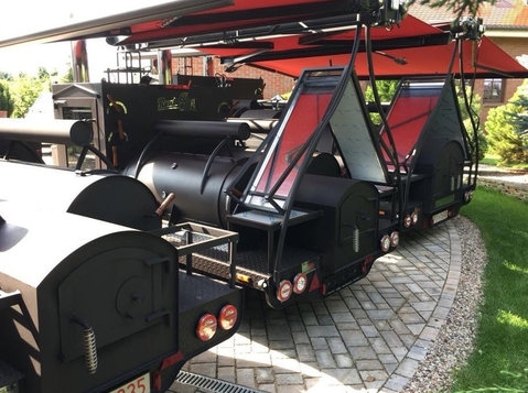 smoker mobilny Grill trailer , grill do restauracji - Meubels/Witgoed
