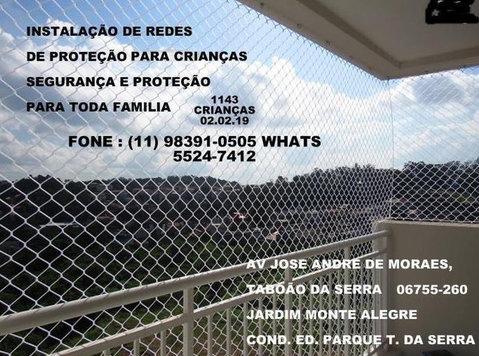 Redes de Proteção na Av. Jose Andre de Moraes, T. da Serra - Baby/kinderspullen