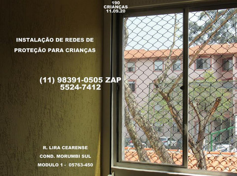 Protection Networks in Campo Limpo, Rua Lira Cearense. - Baby/kinderspullen