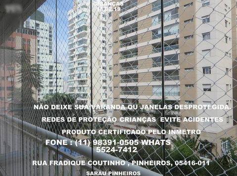 Redes de Proteção em Pinheiros, Rua Fradique Coutinho. - Товары для детей