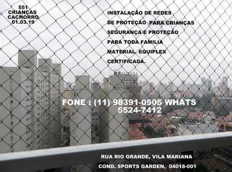 Redes de Proteção na Vila Mariana, Rua Rio Grande . - อุปกรณ์ของใช้สำหรับเด็กและเด็กทารก
