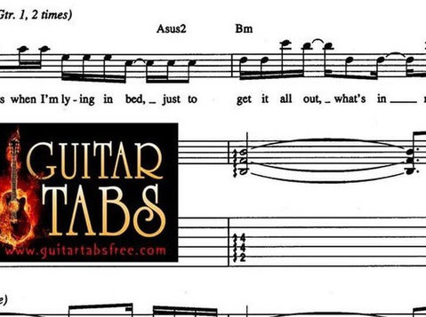 Guitar Tabs, Chords, Song Books, Music Sheets, Lyrics pdf - غيرها
