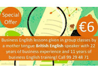 Business English Lessons for 6 Euros/hour - Language classes