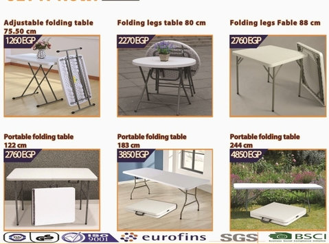 folding table|portable furniture|hdpe granite series - Meble/AGD