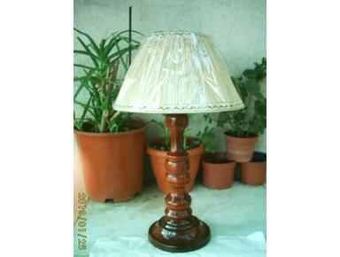Abatjour Lamp Made In Italy One Piece Wood Cedar Of Lebanon - Coleccionables/Antigüedades