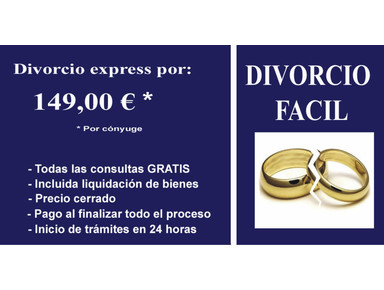 Abogado para divorcio express barato por Internet por 149eur - Juridique et Finance