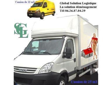Truck camion avec chauffeur et devis déménagement en ligne - Premještanje/transport