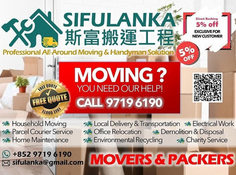 Sifulanka Movers & Handyman - Taşınma/Taşımacılık
