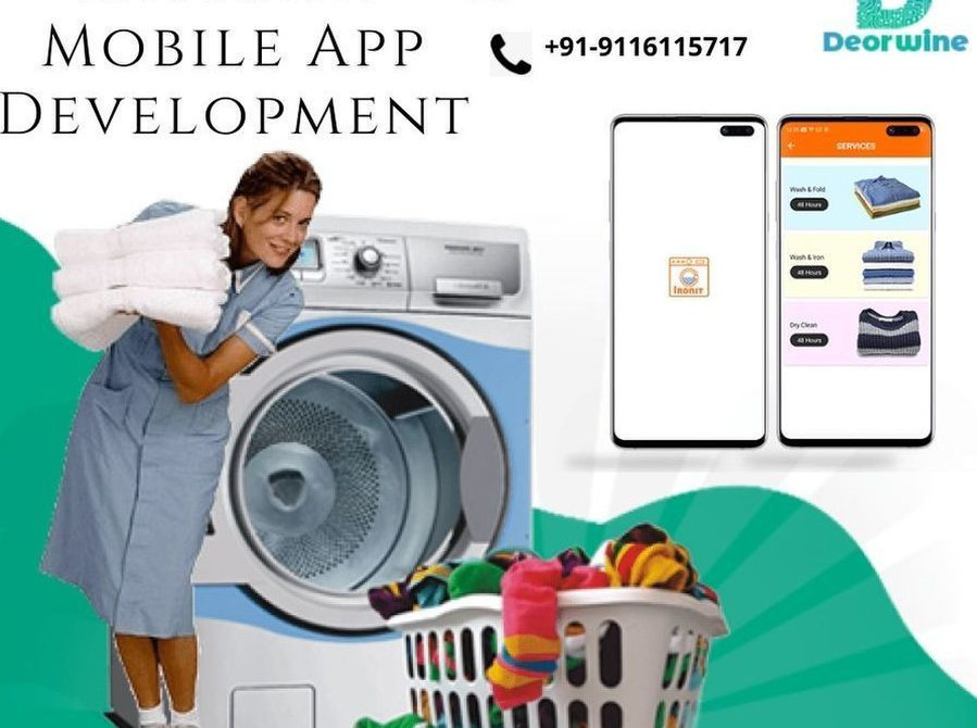 Laundry Mobile App Development - Deorwine Infotech - Cleaning