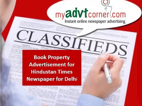 Hindustan Times Delhi Property Ad Booking Online - Services: Other