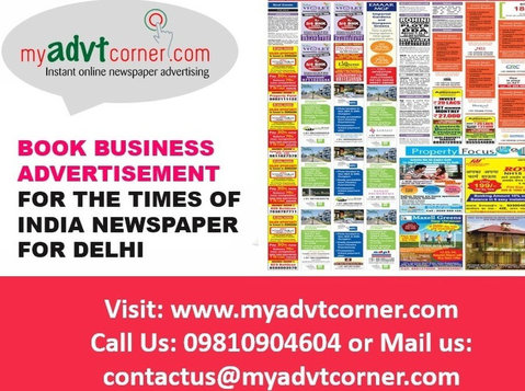 Times of India Business Advertisement for Delhi - Services: Other