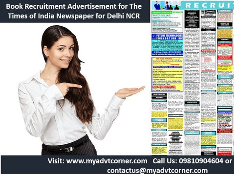 Times of India Delhi Recruitment Ad Booking Online - Services: Other