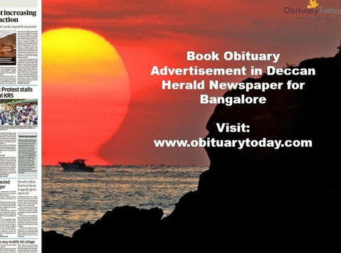 Deccan Herald Bangalore Obituary Advertisement - Services: Other