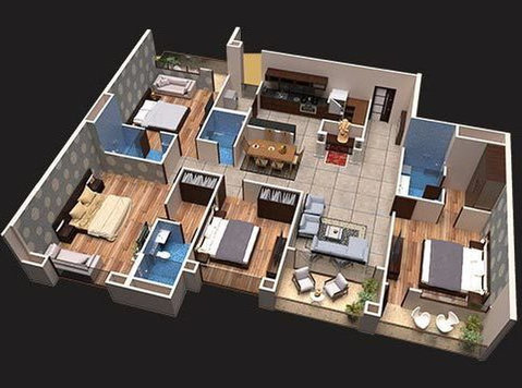 4 Bhk Flats in Indore - Services: Other