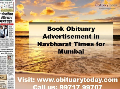 Book Navbharat Times Mumbai Obituary Advertisement - Services: Other
