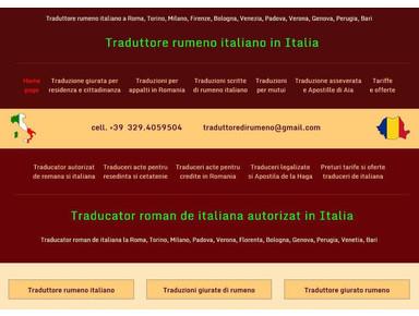 Traduttrice giurata madrelingua rumena - Editoriale/Traduzioni