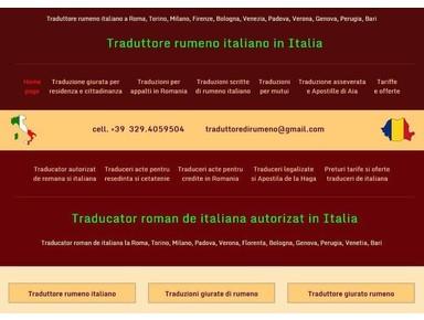 Traduzioni asseverate dal - in rumeno - Edition/ Traduction
