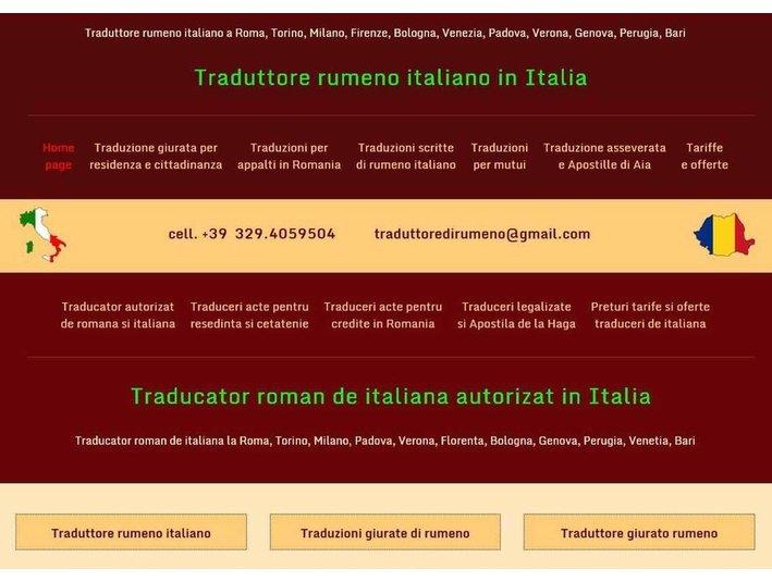 Traduzioni di rumeno - Editoriale/Traduzioni