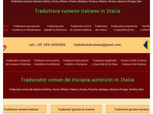 Traduzioni rumeno - italiano - rumeno - Tekstueel/Vertalen