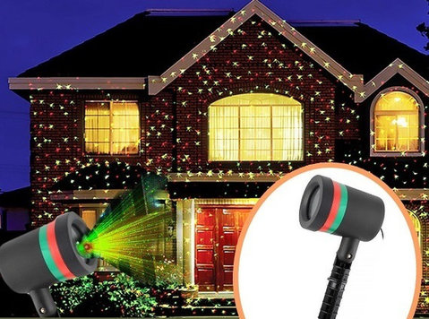 Star Shower Motion Laser Lights Projector Indoor and Outdoor - Điện tử