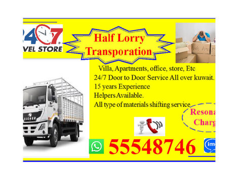 Half lorry Transport 24/7 at any time..home to home 55548746 - 	 Flytt/Transport
