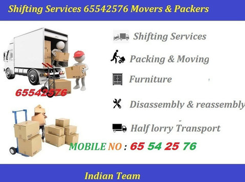 Shifting Services Salmiya 65542576 House , Room ,offices , - 	 Flytt/Transport