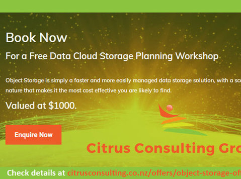 Offer: Free Data Cloud Storage Planning Workshop - Computer/Internet