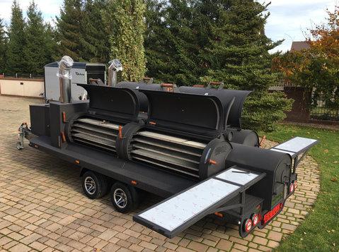 Smoker trailer grill mobilny bbq Texas 4 xxl long master - Samochody/Motocykle