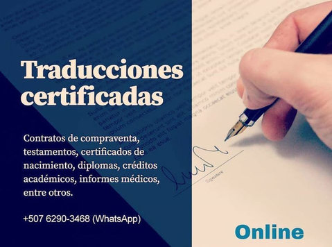 Certified Interpreter and Translator Panama - Editorial/Translation