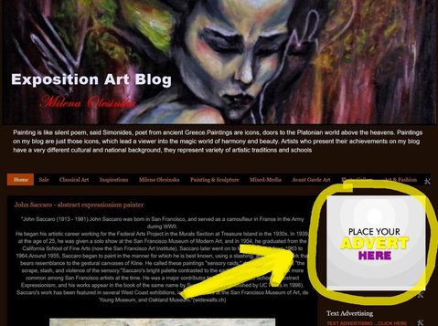 Exposition Art Blog - ADVERTISING ON BLOG - Otros