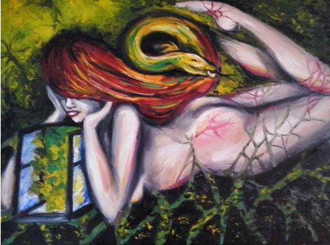 Surrealizm - sprzedam dwa obrazy olejne 100cm x 70cm -  Samlarföremål/Antikviteter