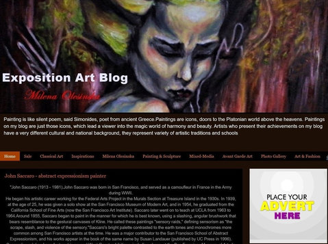 Exposition Art Blog - Reklama na Blogu - Inne