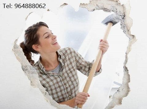 Demolição, abertura de roços, . - Rakentaminen/Sisustus