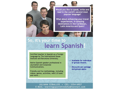 Spanish Lessons in Doha - Aulas de idiomas