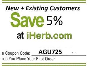 iherb Discount Promo Code 5% OFF Health & Beauty Products - Community: Other