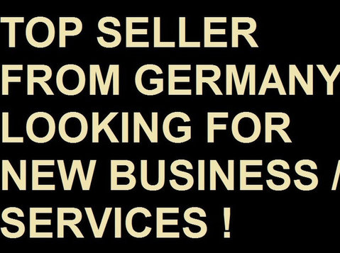 Top Seller from Germany looking for New Business & Services - Socios para Negocios