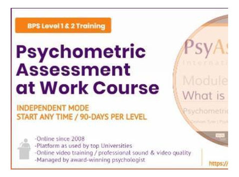 Bps Online Psychometric Assessment at Work Training Course - Classes: Other