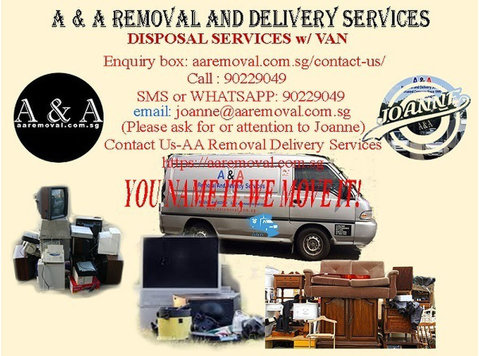 Dispose those Unwanted stuffs Legally in our Van w/ Driver. - Преместване / Транспорт
