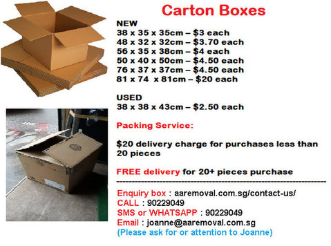 We Sell New/used Carton Boxes Good for your Moving/storage. - Moving/Transportation