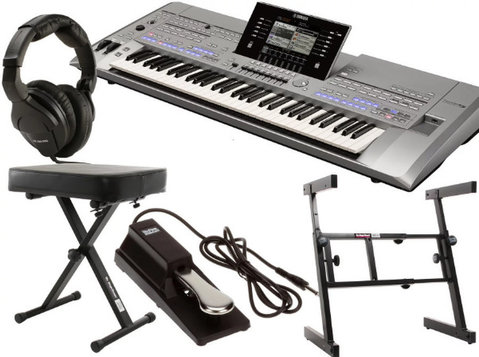 Yamaha Tyros5 61-key Essential Keyboard Bundle - Electronics