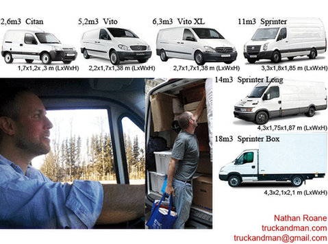 Removals Switzerland Man and Van Europe Moving Service - Verhuizen/Transport