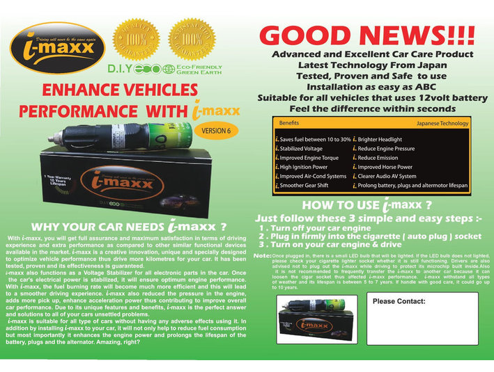 Looking For Agent/Distributor To Market I MAXX-Auto Care - Partner d'Affari