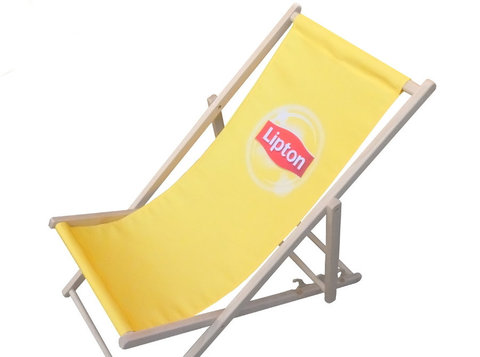 Branded deckchairs, hammocks, windbreaks, bags etc - Partner d'Affari
