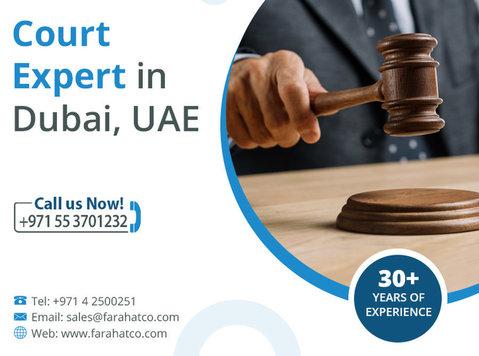 Court Expert in Dubai | Expert Witnesses services - Legal/Finance