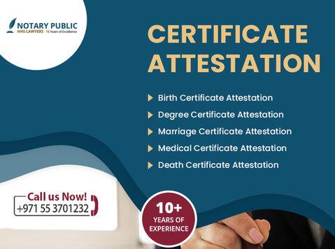 Marriage Certificate Attestation Uae - Legal/Finance