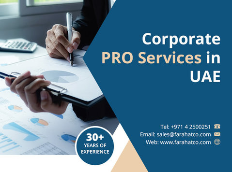 Outsource your Corporate Pro services in Dubai - Legal/Finance